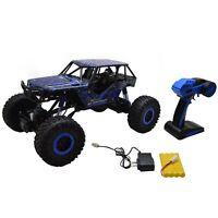 1/10 Scale 2.4ghz 4 Wheel Drive Rock Crawler Radio Remote Control Rc Car Blue
