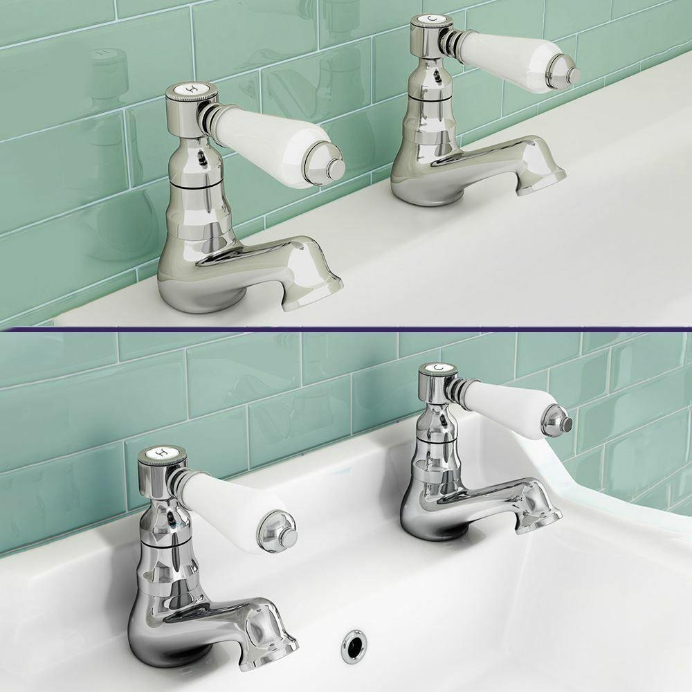 Imperior salle de bains moderne froide et chaude double bassin évier salle de bain Chrome Robinet