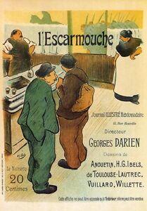 AP148 Vintage French L/'Escarmouche Skirmish Advertisement Poster Print A2//A3//A4