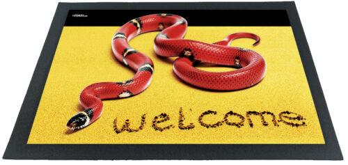 Fußmatte Abtreter Türvorleger Teppich schwere Schmutzfangmatte lustige 3D Optik
