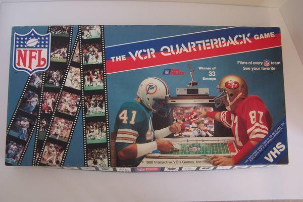 VCR Quarterback Game 1986 Interactive Games Vintage Exc