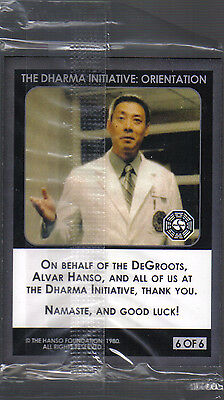 LOST: THE DHARMA INITIATIVE SET OF 6 PROMO CARDS, Factory sealed