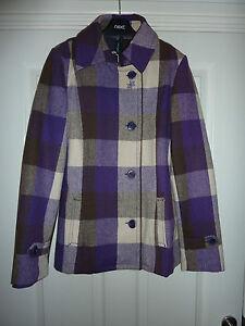 OXBOW-Purple-Checked-Jacket-NWT-RRP-120-BARGAIN-Size-10-amp-14-LAST-2-LEFT