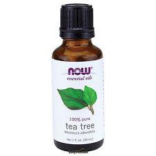 NOW FOODS 100% Pure Tea Tree Oil 1 oz (30 ml) Melaleuca alternifolia Made In USA