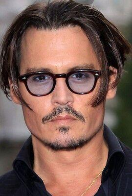 Retro Vintage sunglasses Depp mens eyeglasses tortoise frame light grey lenses