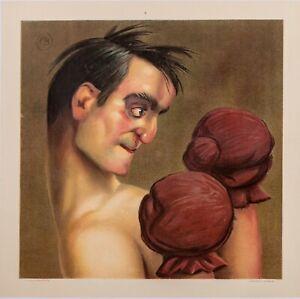 Original-Vintage-Poster-Paul-Baroni-Boxer-Marty-FELDMAN-Caricature-1910