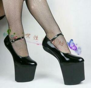 women's super high heel heelless fashion platform shoes