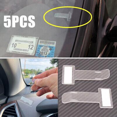 Interior Accessories Hot Best 2 Pcs Auto Car Vehicle Parking Visor Sunglasses Glasses Card Pen Holder Ticket Permit Holder Clip Fastener Sticker Color Name: Black White