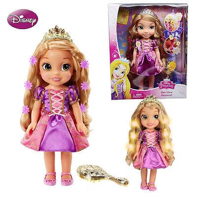 Disney Princess Hair Glow Rapunzel Toddler Doll Magical Hair Kids Pretend Play