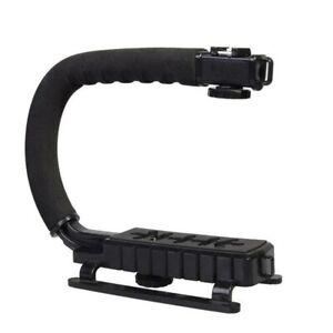Black-C-U-Shaped-Bracket-Holder-Stabilizer-Video-Handheld-Grip-For-DSLR-Camera
