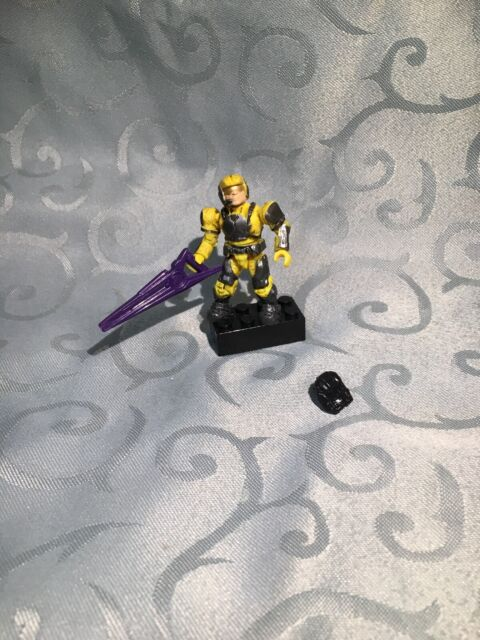 Halo Mega Bloks UNSC Yellow Marine - Series 5 Figure - Minifig