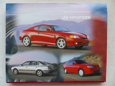 Praktisch Hyundai Accent Elantra Tiburon Sonata Xg350 - Us-pressemappe Press-kit 2003 Usa Noch Nicht VulgäR