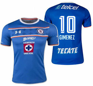 86f167a9 UA UNDER ARMOUR CHRISTIAN GIMENEZ CRUZ AZUL HOME JERSEY 2015/16 Blue ...