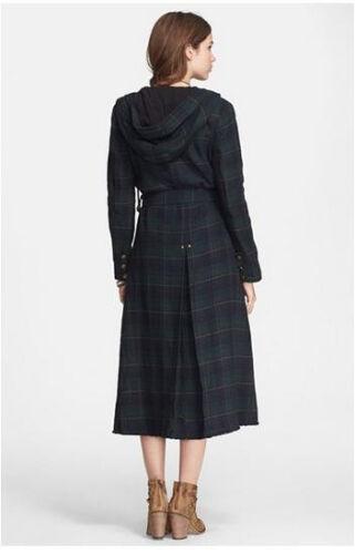 NWT Free People Textured Plaid Maxi Coat  $298
