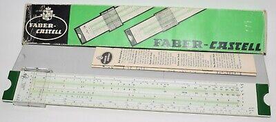 vintage faber castell 52/82 slide rule with original box, case, instructions   ebay