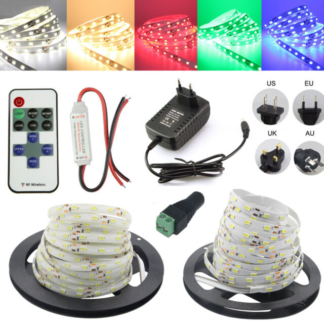 11 Key RF Remote+12V 3A  Power supply 5M 5630 SMD 300 LED  flexible Strip light