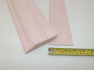 "5 PACK of 2.4mm BALSA WOOD SHEETS 450mm x 75mm x 2.4mm 18/"" x 3/""  x 1//12/"""