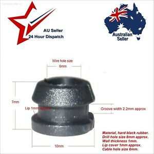 Fantastic Black Hard Rubber Grommets X 20 Cable Hole Size 6Mm Wiring Grommet 4 Wiring 101 Mentrastrewellnesstrialsorg