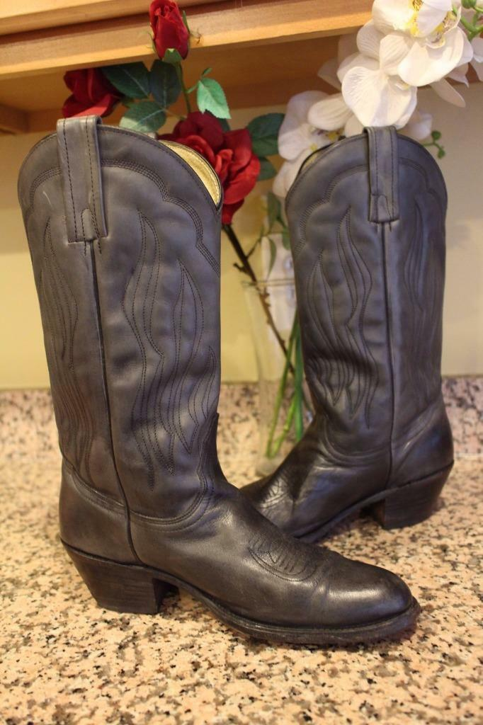 Frye Men's Cowboy Black Vintage 1980s Boots Size 10D (bota1500