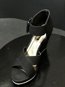 b30cda64f01 Michael Antonio Women s Gratia Sandals Wedges Shoes Black Size US 8 ...