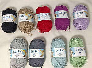 Lot-of-3-Dale-of-Norway-Lerke-Merino-Wool-Egyptian-Cotton-Bl-Yarn-Color-Choice