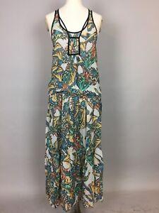 Women S Vintage Topshop Sleeveless Floral Animal Pattern Maxi Dress Uk 8 Ebay