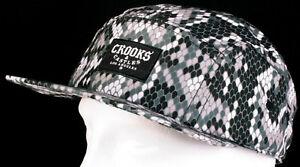 42265f8575222 New Crooks   Castles Snakeskin Sidewinder Python 5-Panel Strapback ...