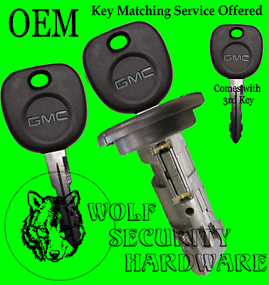 GMC Sierra Yukon 03-06 Classic 07 OEM Ignition Key Switch Lock Cylinder 2 Keys