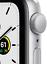 thumbnail 2 - Apple Watch SE GPS 40mm Aluminum MYDM2LL/A Silver White Band