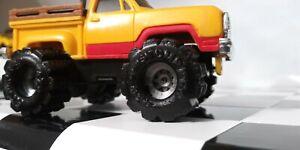 Set-of-4-Black-Schaper-Stomper-Super-Wide-034-FATTIES-034-4x4-Truck-TIRES-Repro