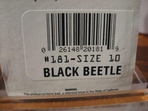 Joe/'s Flies Spinner Bait Short Striker Black Beetle 181-10 Factory USA