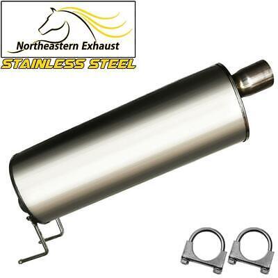 Stainless Steel Exhaust Muffler Resonator Fits 2006-2008 Dodge Ram1500 Pickups