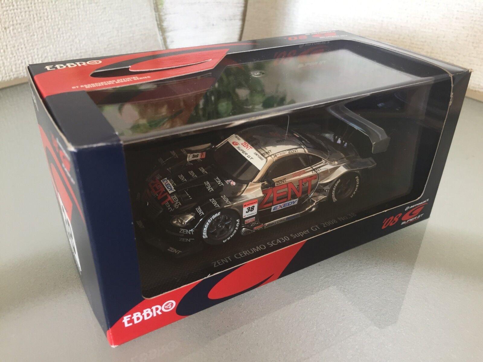 1 43 EBBRO 44055 SUPER GT500 Zent serumo SC430 2008  38 JAPAN F S