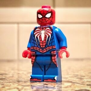 LEGO-Custom-UV-Printed-SDCC-2019-Inspired-PS4-Spider-Man-Minifigure-Minifig-NEW