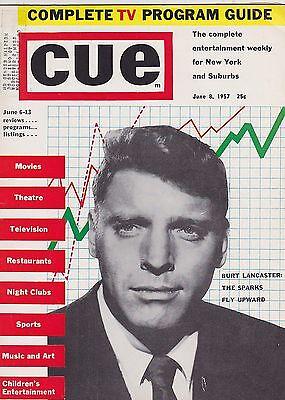 JUNE 8 1957 CUE vintage NEW YORK - TELEVISION magazine BURT LANCASTER