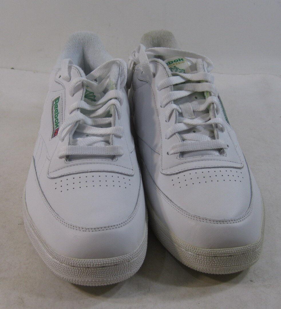 reebok mens club c größe sneaker aus weißem leder größe c der vereinigten staaten. 1267a0