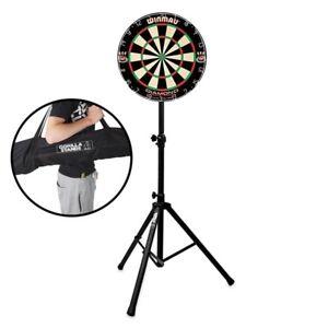 Winmau-Diamond-Plus-Dartboard-Dart-Board-with-Gorilla-Arrow-Pro-Portable-Stand