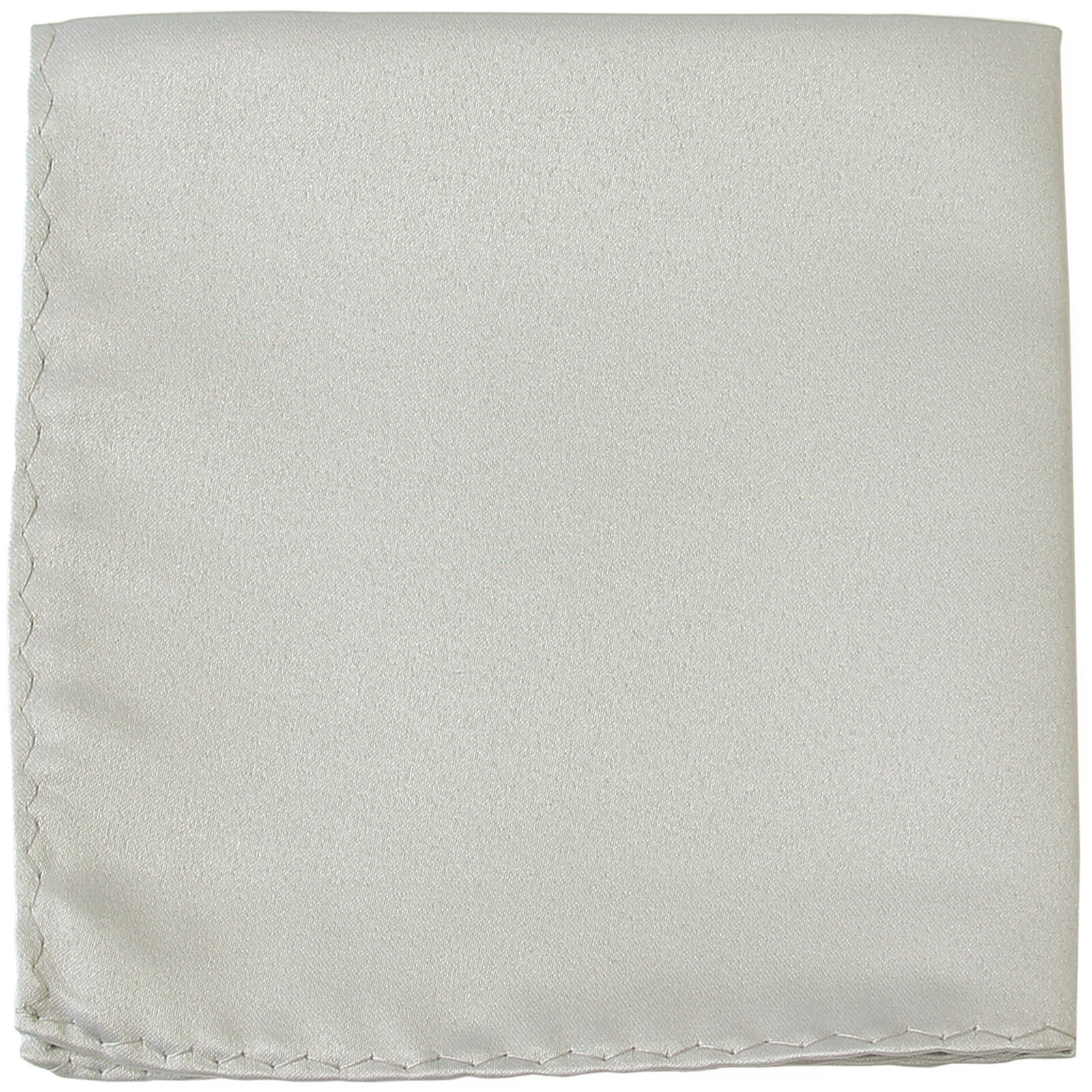 New Men's Polyester pocket square hankie only silver prom wedding