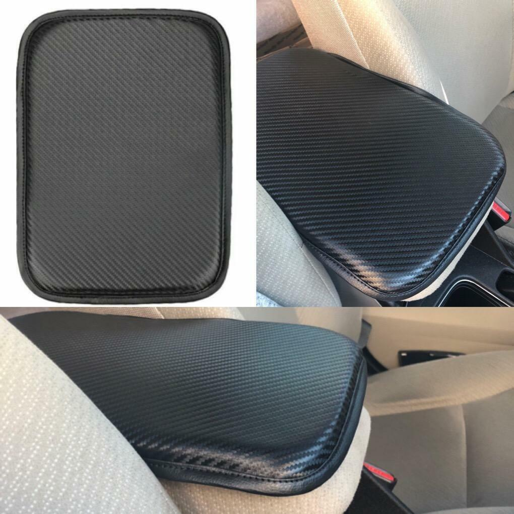 PU Leather Car Armrest Box Center Console Soft Pad Cover New C