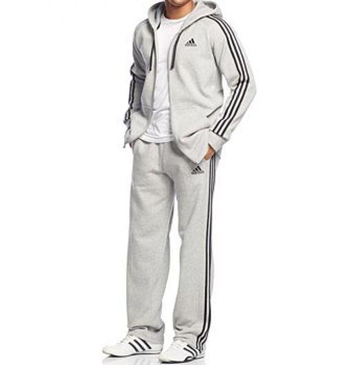 Adidas Essentials Cotone Pile Cerniera Intera Felpa con Cappuccio & Pantaloni in