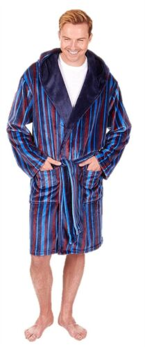 Mens dressing gown fleece bathrobe luxury medium large xl 2xl 3xl