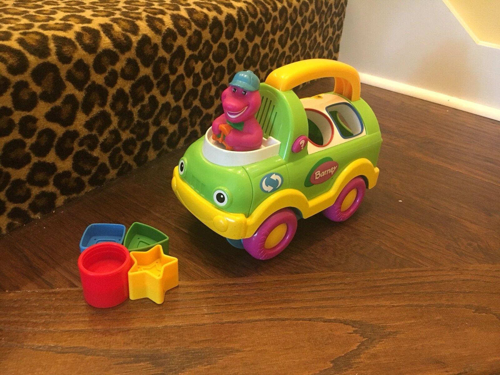 Barney The Dinosaur Cleanup Shape Sorter Vehicle