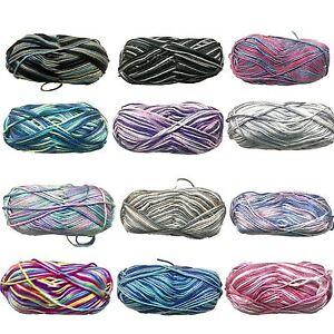 5x100g-Knitting-Yarn-Super-Soft-8-Ply-Knitting-Wool-100-Acrylic-Multi-Colours