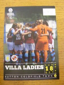 18-10-2015-Aston-Villa-Ladies-v-Reading-Ladies-At-Sutton-Coldfield-Town-Foot