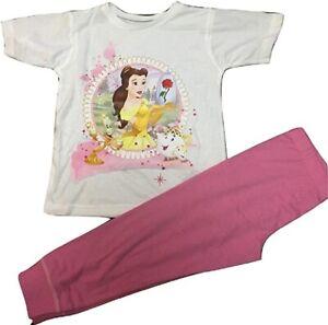 Disney Princess Belle Short Sleeved Pyjama. Age 5-6 Years. Free Postage. New