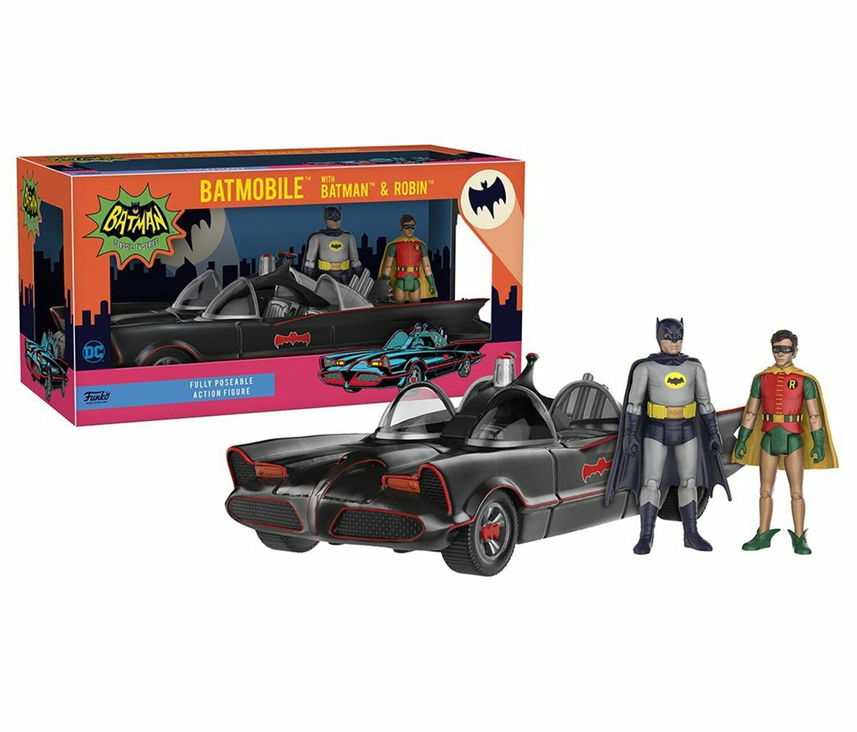 DC DC DC COMICS CLASSIC SERIES BATMOBILE WITH BATMAN & ROBIN FIGURES POSEABLE FUNKO 0532d3