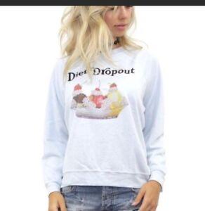 Ice Lounge Diet Wildfox Sweater Sweatshirt Small Bbj Sundae Cream Dropout 06WqBfH