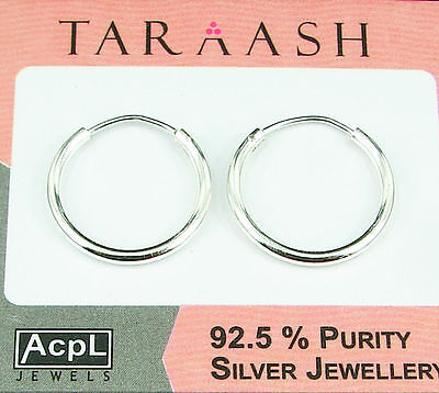 925 STERLING SILVER HANDMADE SOLID HOOP EARRINGS