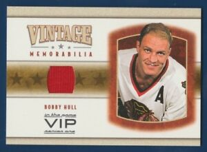 BOBBY-HULL-03-04-IN-THE-GAME-VIP-2003-04-VINTAGE-MEMORABILIA-JERSEY-NRMINT-16193