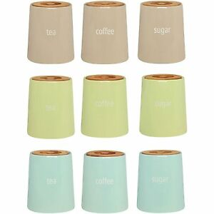 Image Is Loading Fletcher Tea Coffee Sugar Canisters Kitchen Ceramic Storage